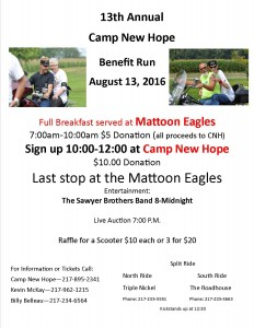 Camp New Hope 2016 Ride flyer
